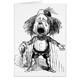 Tarjeta Dibujo divertido gritador emocional del dibujo