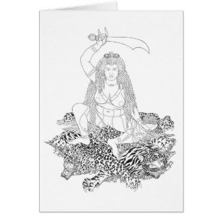 Tarjeta Dibujo lineal de Min'gyür Pema Wangmo [tarjeta]
