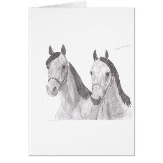 Tarjeta Dibujos hermosos del caballo de las yeguas