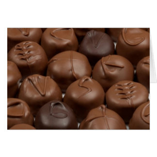 Tarjeta ¡Dígalo con el chocolate!