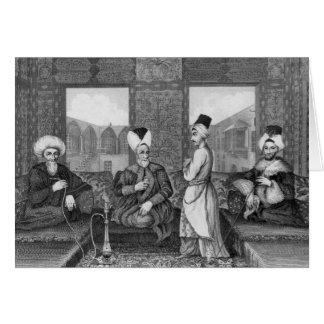 Tarjeta Dignatarios del otomano