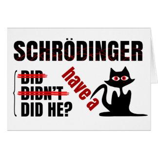 Tarjeta Dillema de Schrodinger