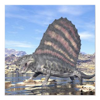Tarjeta Dimetrodon en el desierto - 3D rinden