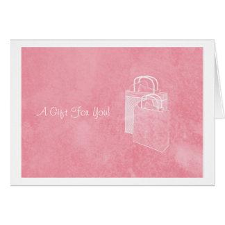 Tarjeta Dinero rosado femenino del día de compras incluido