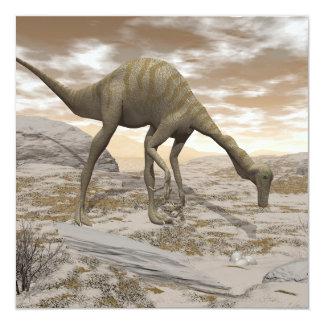 Tarjeta Dinosaurio de Gallimimus - 3D rinden
