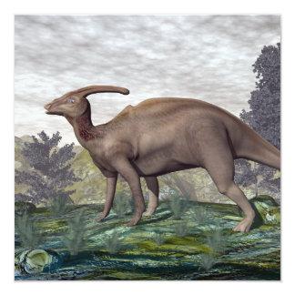 Tarjeta Dinosaurio de Parasaurolophus - 3D rinden