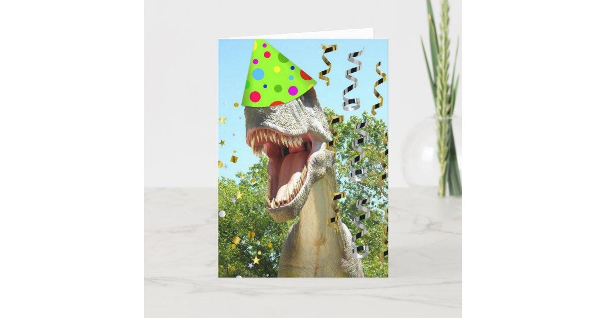 Tarjeta Dinosaurio de T-Rex del feliz cumpleaños | Zazzle.es