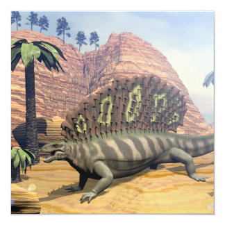 Tarjeta Dinosaurio del Edaphosaurus - 3D rinden