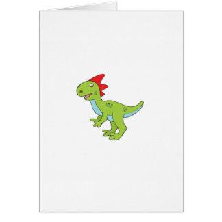 Tarjeta dinosaurio del rex del lagarto