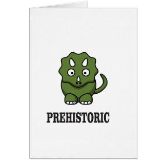 Tarjeta dinosaurio pre histórico sí