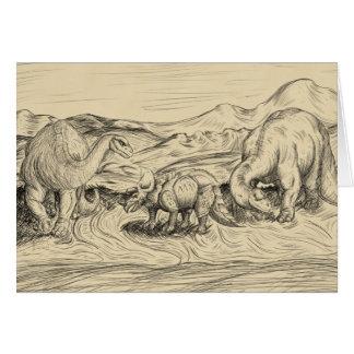 Tarjeta Dinosaurios clásicos