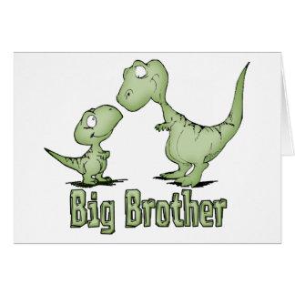 Tarjeta Dinosaurios hermano mayor
