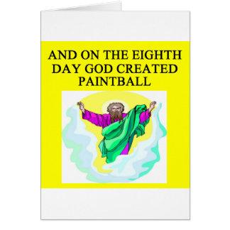 Tarjeta dios creó Paintball