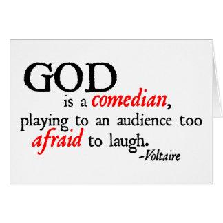 Tarjeta Dios es cómico