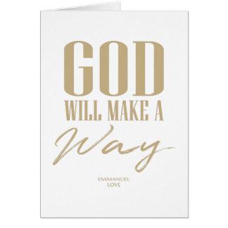 Tarjeta Dios hará una manera