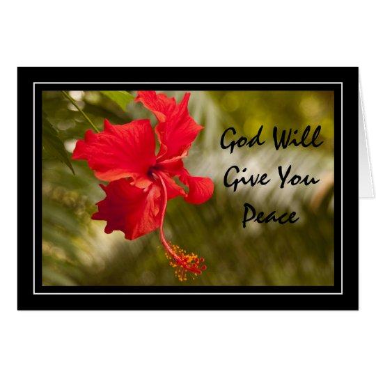 Tarjeta Dios le dará paz