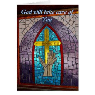 Tarjeta Dios tomará el cuidado de usted
