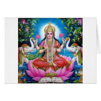 Tarjeta Diosa de Lakshmi del amor, de la prosperidad, y de