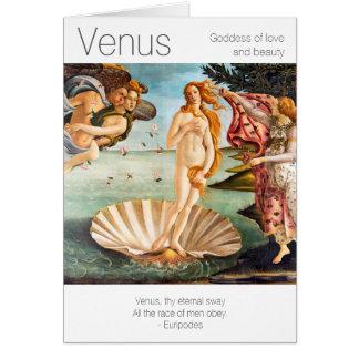 Tarjeta Diosa de Venus del amor y de la belleza