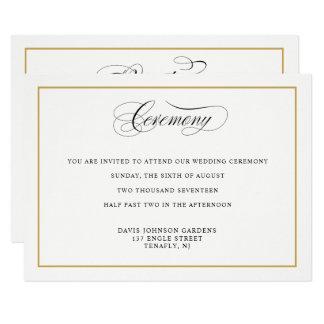 Tarjeta Direcciones elegantes de la ceremonia del oro de
