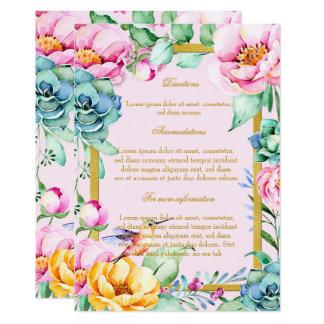 Tarjeta Direcciones exóticas del boda de Frame&Flower del
