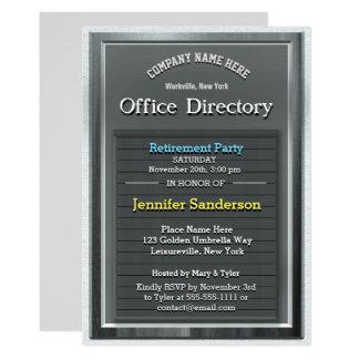 Tarjeta Directorio de la oficina de la plata de la