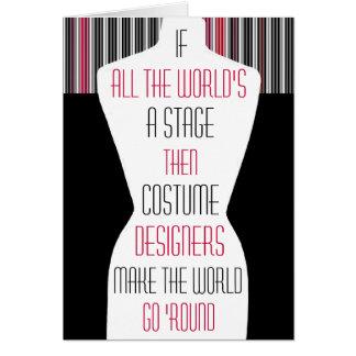 Tarjeta Diseñadores de vestuario