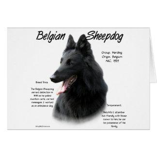 Tarjeta Diseño belga de la historia del perro pastor