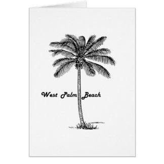Tarjeta Diseño blanco y negro de West Palm Beach y de la
