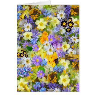 Tarjeta Diseño colorido enorme del ramo de las flores