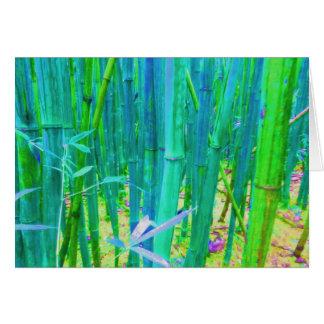 Tarjeta Diseño de bambú en blanco del bosque de Notecard