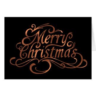 Tarjeta diseño de la escritura de las Felices Navidad de
