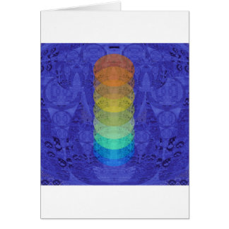 Tarjeta Diseño de la tapicería de Chakra de la yoga