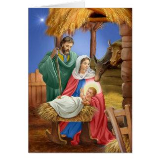 Tarjeta Diseño de Navidad de la natividad del vintage