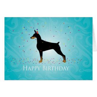 Tarjeta Diseño del feliz cumpleaños del Pinscher del