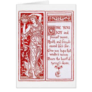 Tarjeta Diseño del navidad por la grúa de Gualterio