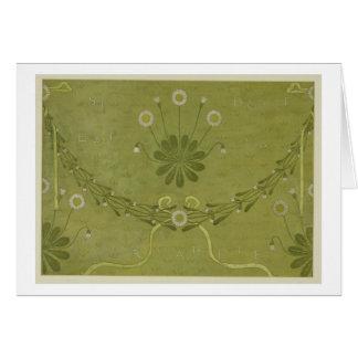"""Tarjeta """"Diseño del papel pintado de Margarete del La"""","""