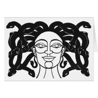 """Tarjeta Diseño del papercut de la """"medusa"""" de Jennifer"""