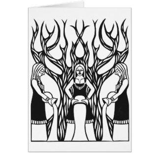 """Tarjeta Diseño del papercut """"del Norns"""" de Jennifer Kuhns"""