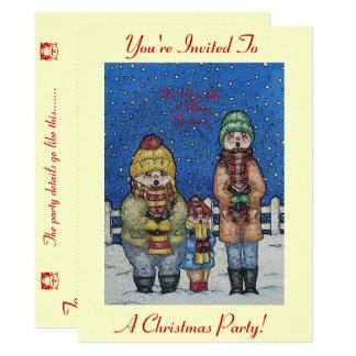 Tarjeta diseño divertido del navidad de la escena de la