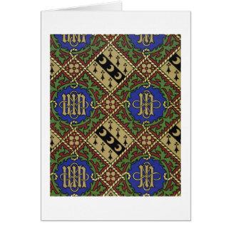 Tarjeta Diseño eclesiástico del papel pintado de la
