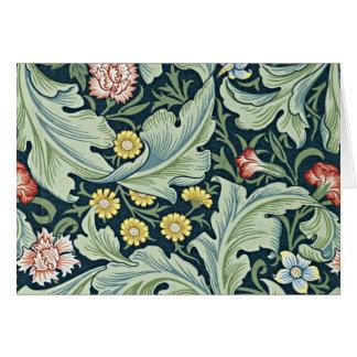 Tarjeta Diseño floral del vintage de William Morris - de