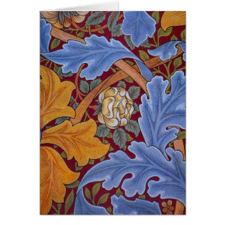 Tarjeta Diseño floral del vintage de William Morris San