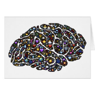 Tarjeta Diseño fresco del modelo del cerebro de Emoji