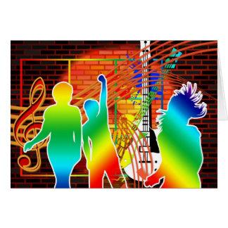 Tarjeta Diseño fresco enrrollado del arte pop de la danza
