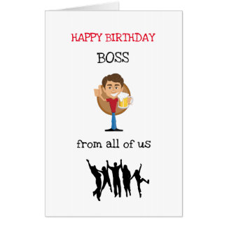 Tarjeta Diseño grande de Boss del feliz cumpleaños