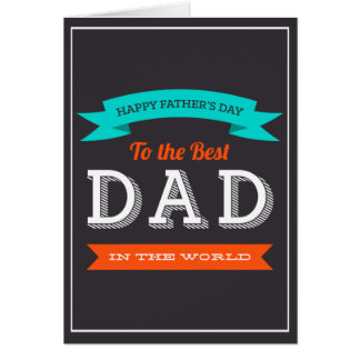 Tarjeta Diseño moderno de la tipografía del día de padre