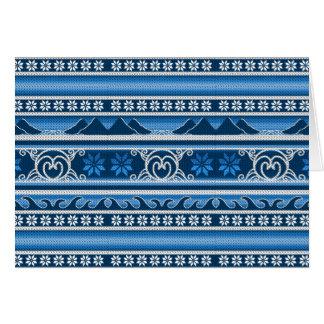 Tarjeta Diseño nórdico azul del invierno