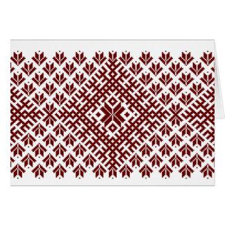 Tarjeta Diseño nórdico tradicional