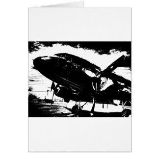 Tarjeta Diseño retro del jet de la aviación del avión del